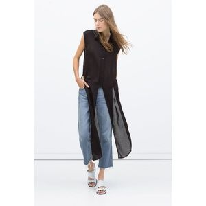Zara long shirt with vents